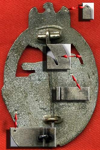 Panzerkampfabzeichen in silver fll43