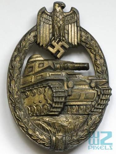 My Panzerkampfabzeichen in Silber by HA