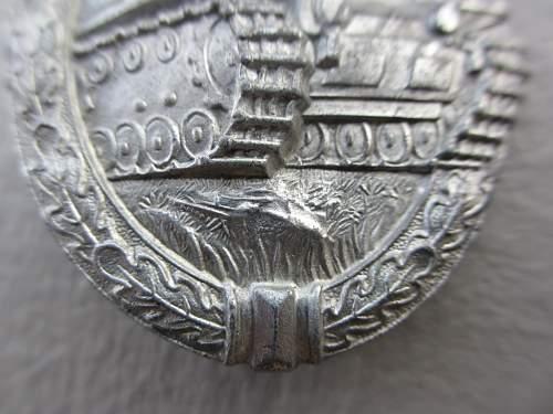 Panzerkampfabzeichen in Silber, Hermann Aurich,  Original?