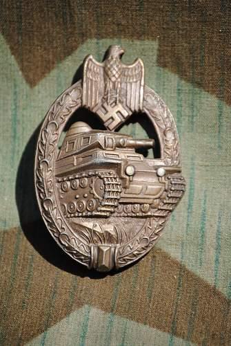 Panzerkampfabzeichen in  Bronze