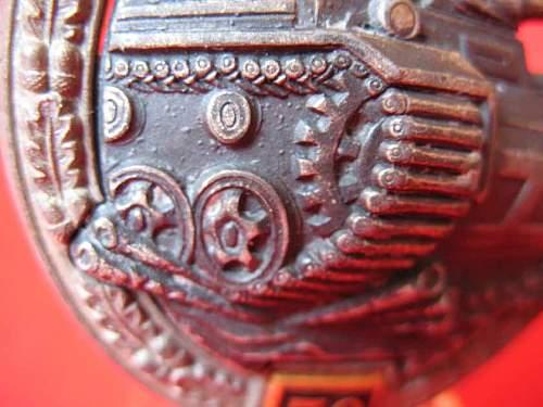 """Panzerkampfabzeichen II Stufe """"25""""....ORIGINAL OR FAKE?"""