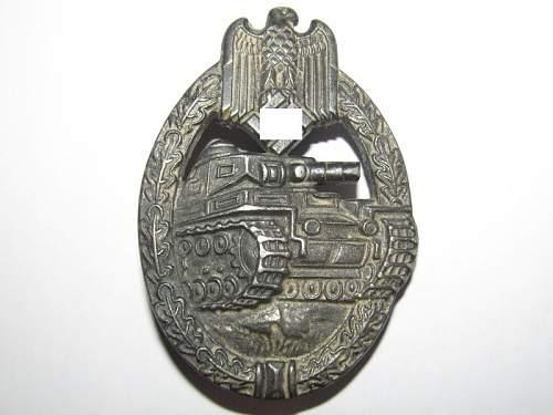 Panzerkampfabzeichen in Silber, Rudolf Souval, original??