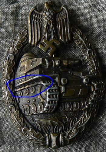 Panzerkampfabzeichen Assmann