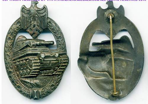 Panzerkampfabzeichen A.S. Marked, dug up, need help with it.