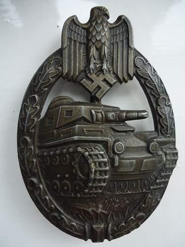 Unknown Maker PanzerKampfAbzeichen