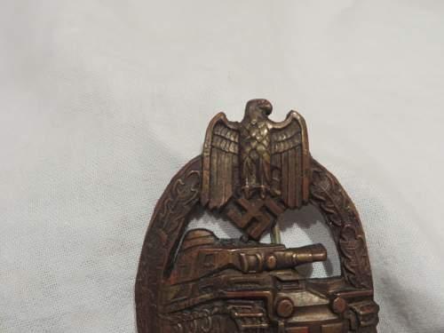 Panzerkampfabzeichen in Bronze, good or bad
