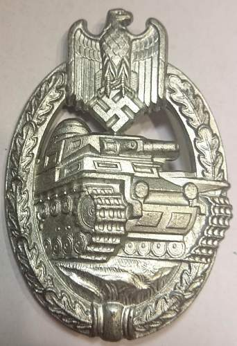 Two Panzerkampfabzeichen, in Silber and in Bronze, opinions please