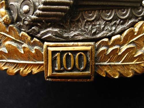 Record Price For Grade IV 100 Panzerkampfabzeichen.
