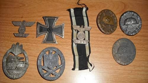 German Medals--Opinions Please Panzerkampfabzeichen & Allgemeine Sturmabzeichen.
