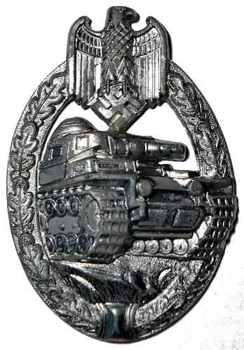 Panzerkampfabzeichen in silber, Dr. Franke & Co.
