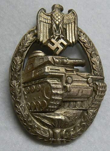 """Panzerkampfabzeichen in Silber, """"Daisy"""", Wilhelm Deumer"""