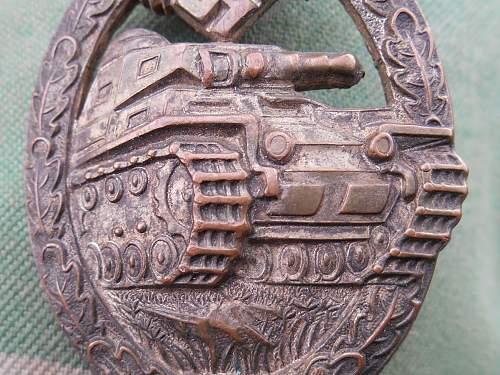 Panzerkampfabzeichen in Silber by Assmann