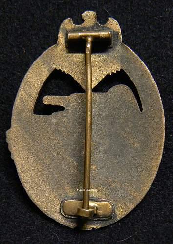 Panzerkampfabzeichen in Bronze, Steinhauer & Lück Unmarked