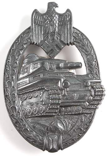 Panzer badge in silver