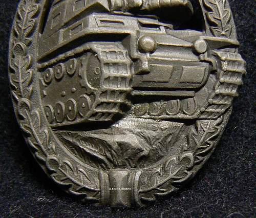 """Panzerkampfabzeichen in Bronze, Wilhelm Deumer """"Daisy"""""""