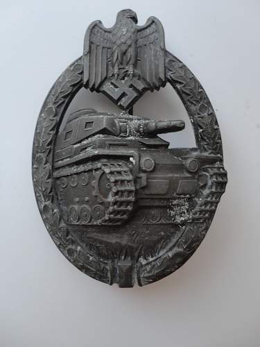 Panzerkampfabzeichen in Bronze - Unmarked