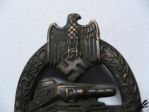 Panzerkampfabzeichen in Bronze AS - ask for help
