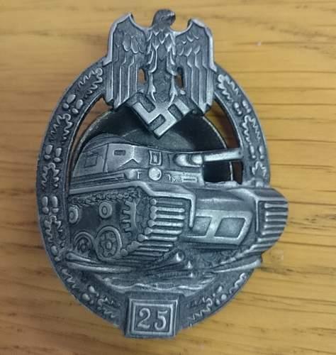 Panzer assault badge, real or fake?