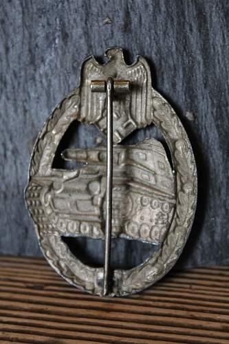 Cut out  Panzerkampfabzeichen