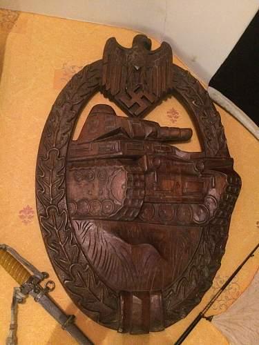 wooden panzerkampfabzeichen