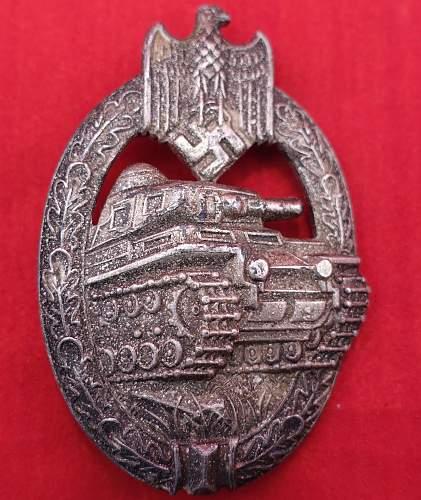 A.S. Marked  Panzerkampfabzeichen With Strange Patina