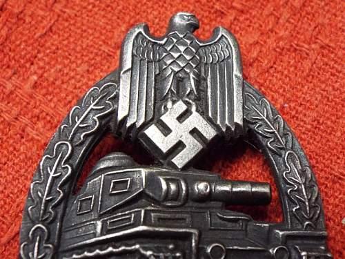 Panzerkampfabzeichen in Silber, real or fake?