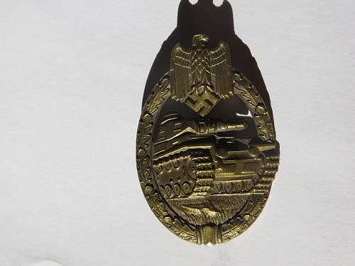Bronze Panzerkampfabzeichen marked W
