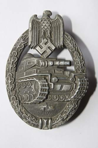 Panzerkampfabziechen im Silber for identification