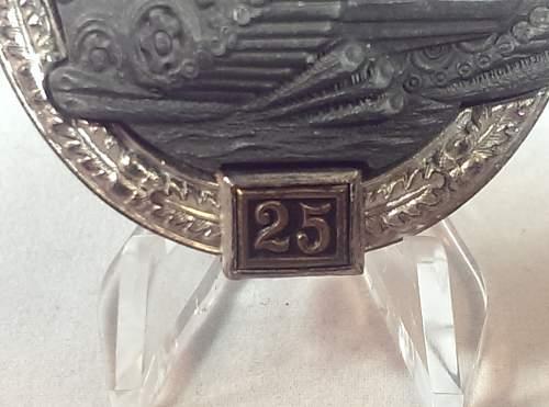 """Panzerkampfabzeichen II Stufe """"25"""" JFS"""