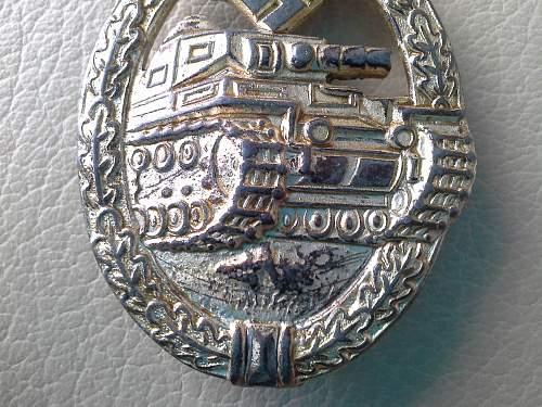 Panzerkampfabzeichen in Silber, R.S., Rudolf Souval