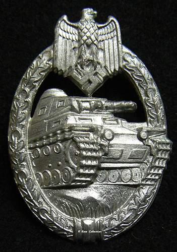 Panzerkampfabzeichen in Silber, Attributed to Steinhauer & Lück.