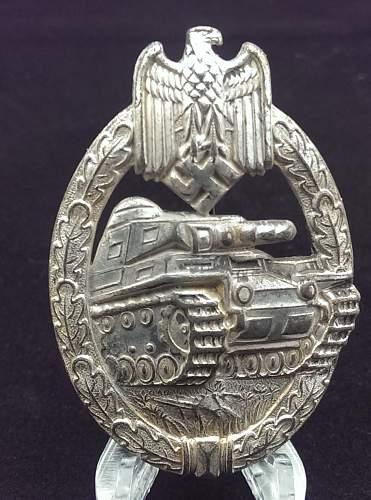 Panzerkampfabzeichen in Silber, Assmann