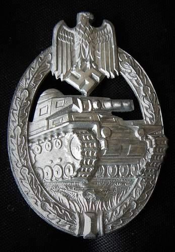 My latest, my best. Panzerkampfabzeichen in Silber