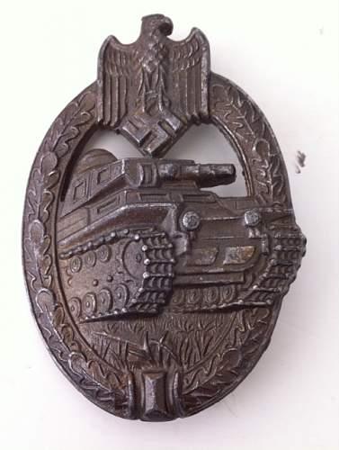 panzerkampfabzeichen bronze AS