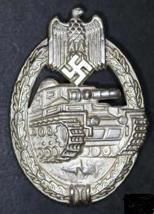 Panzerkampfabzeichen silver Schickle