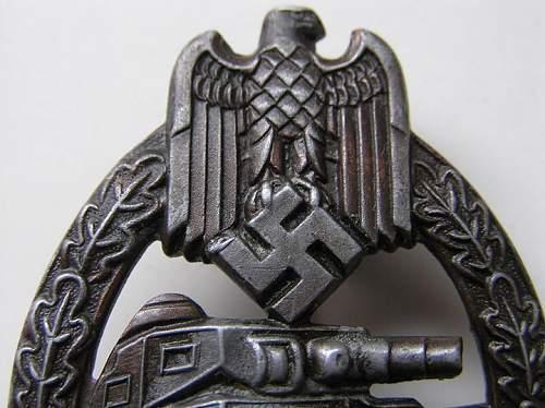 Panzerkampfabzeichen R.S Original ??