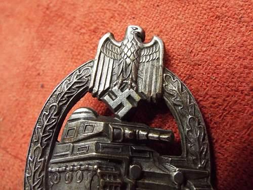 Panzerkampfabzeichen in Silber, HA marked