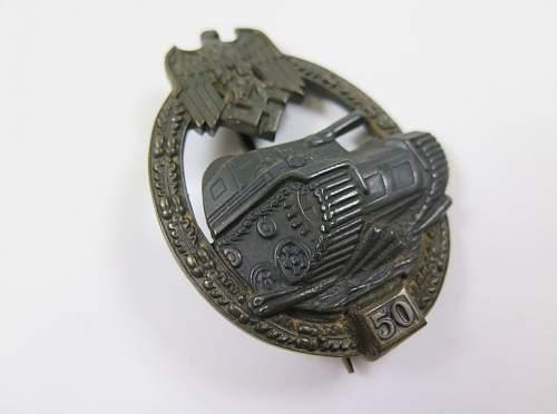 Panzerkampfabzeichen III Stufe 50 fake or real