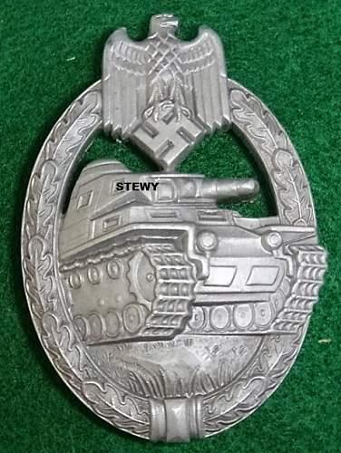 """S&L """"Monster"""" Panzerkampfabzeichen in Silber"""