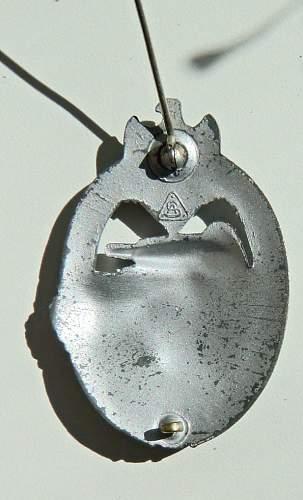 Panzerkampfabzeichen in Silber, Adolf Scholz OK?