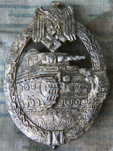 Panzerkampfabzeichen in Silber, 7 Wheeler