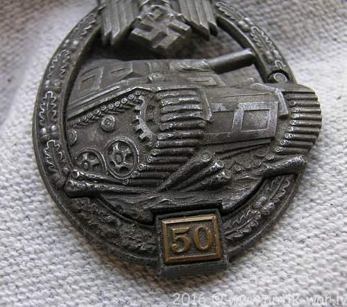 Panzerkampfabzeichen III Stufe (Gustav Brehmer, Markneukirchen)