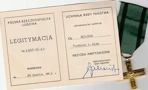 Krzyż Partyzancki (partisan cross), real or not?