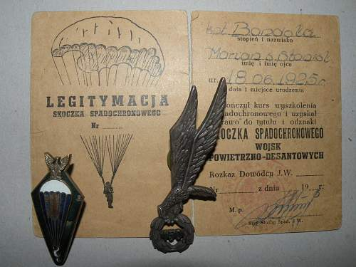 LWP Parachutist Badge