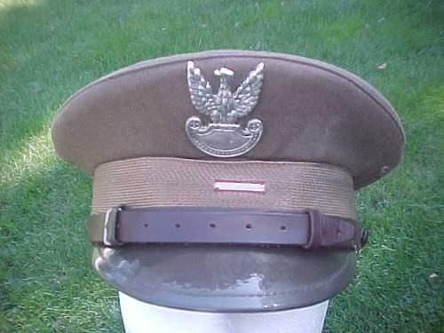 Identify officer visor cap