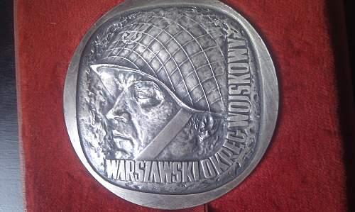 Medal Warszawski Okreg Wojskowy information