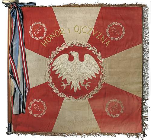 Fors sale: Regimental flag of the First Infantry Division of the Kosciuszko Regiment No. 1