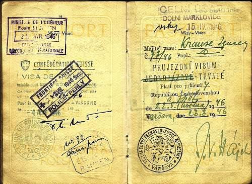 post-war Polish service-passport...