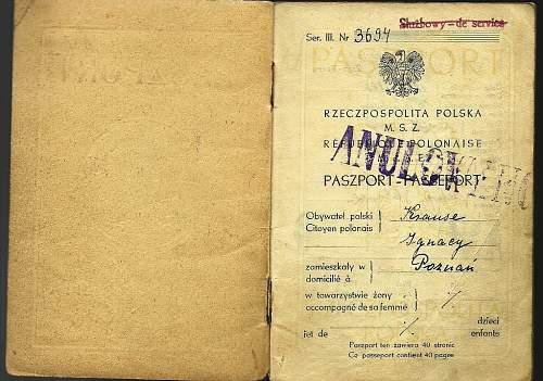 post-war first Polish passport