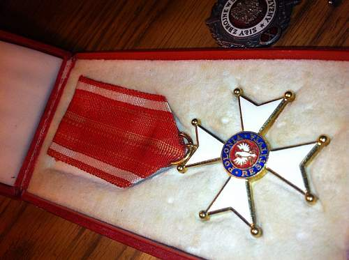 Order of Polonia Restituta among other Medals